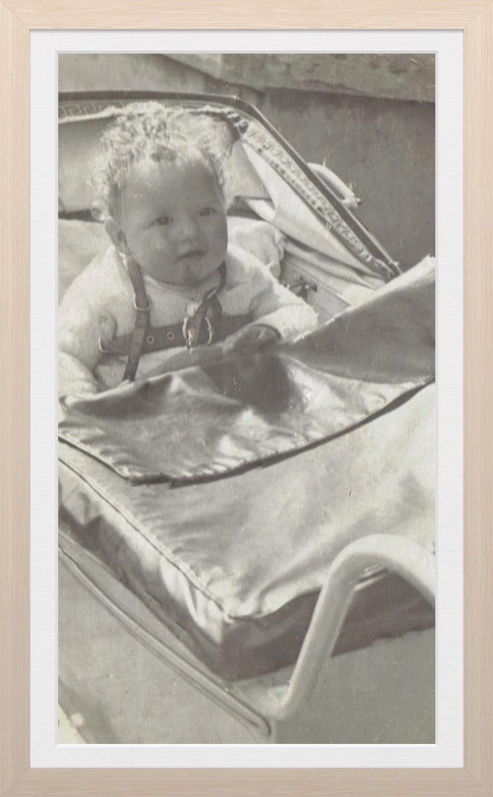Baby Vicki Adcock in pram, 1948