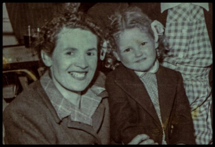 Doris and Vicki Adcock. Mother and daughter circa 1953