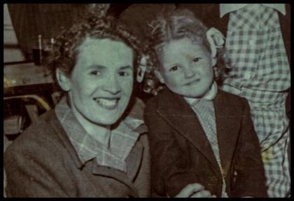 Doris and Vicki Adcock. Mother and daughter circa 1953