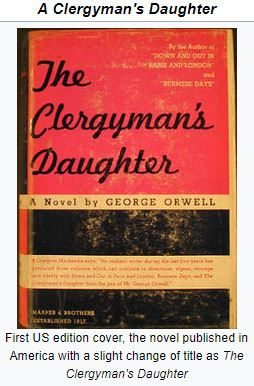 "An image of the cover of George Orwell's novel ""The Clergyman's Daughter"""