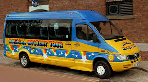 "Image of the Beatles charabanc coach used for the ""Magical Mystery Tour"
